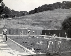 Swimming at the pool, 1933.